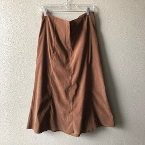 Vegan Suede Maxi Skirt by White Stag Petite 14